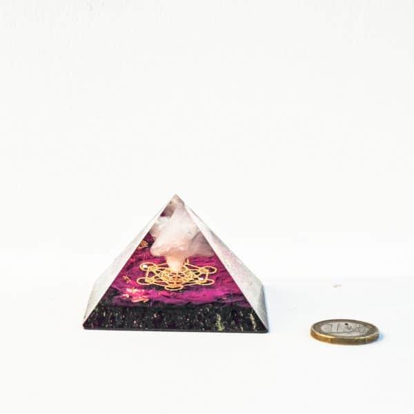 Orgonite pyramide Merkaba lilacandles