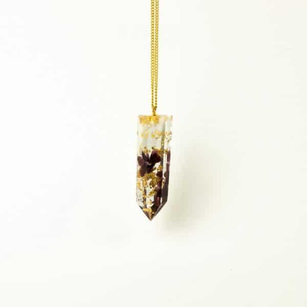 Pendentif Orgonite Grenat lilacandles