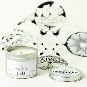 bougie tin elements feu